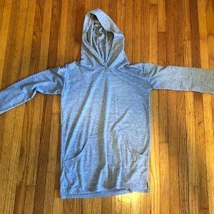 KidPik Girls Size Large Grey Lightweight Hoodie